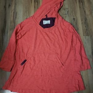 Saturday Sunday Coral hoodie top size Small